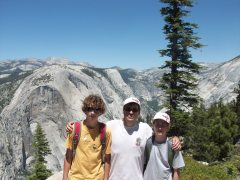Half Dome 3 boys on base