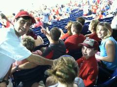 Phillies May 2013 Giving Foul Ball to Brian
