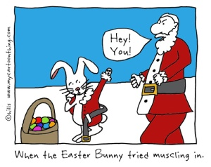 Easter Bunny at Christmas cartoon 1