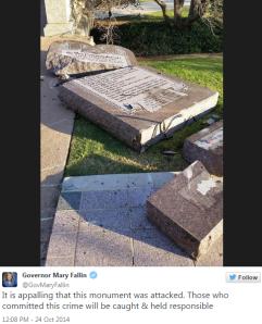 Smashed 10 Commandments