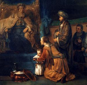 Hannah presenting Samuel to Eli (van den Eeckhardt, 16XX)