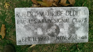 Robert Maurice Oldham Grave Marker